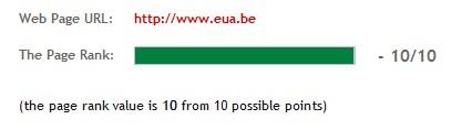 Pagerank Checker for www.eua.be